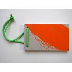 Notizblock Orange-Gruen